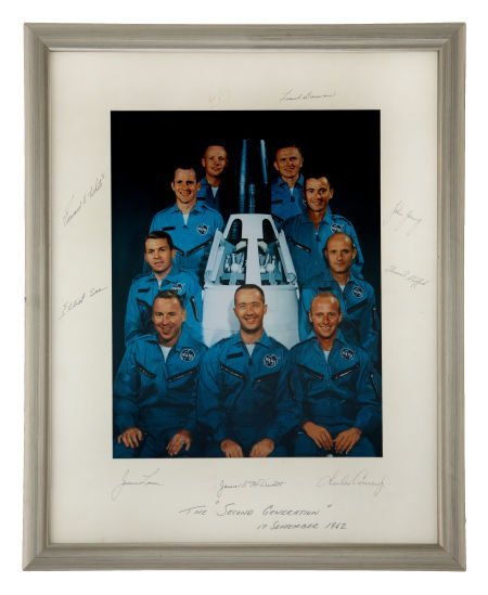 41012: NASA Astronaut Group Two: Large Color Photo on M