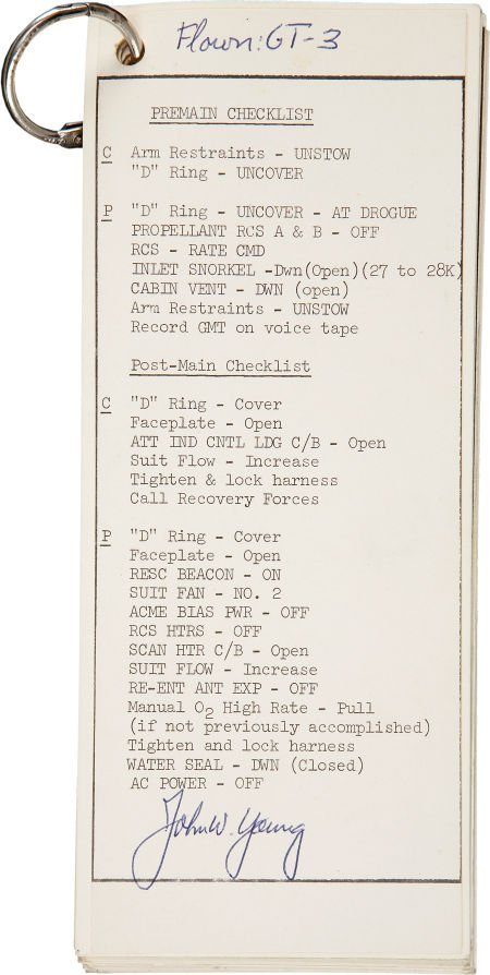 41013: Gemini 3 Flown Checklist Directly from the Perso