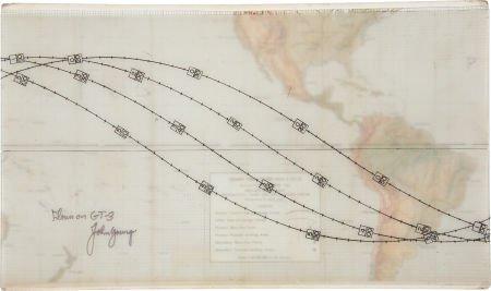41014: Gemini 3 Flown Orbital Path Display Chart Direct