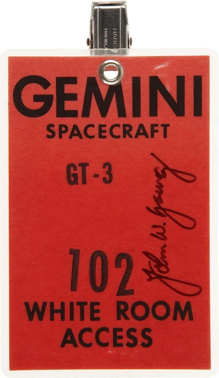 41015: Gemini 3 White Room Access Badge Directly from t