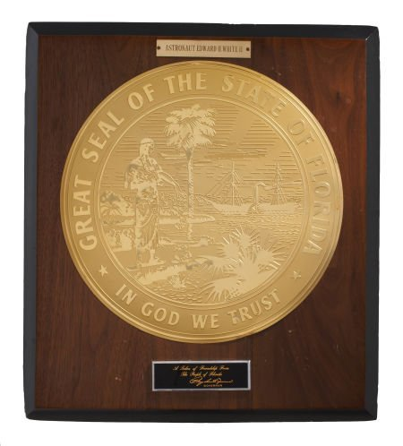 41021: Gemini 4: State of Florida Seal and Plaque Prese