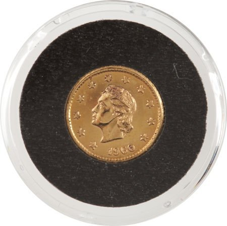 "41022: Gemini 5 Flown ""One Celeston"" Gold Coin Original"