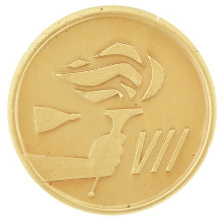 41023: Gemini 7 Flown Fliteline Gold-Colored Medallion