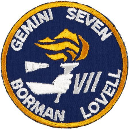 41024: Gemini 7 Flown Embroidered Mission Insignia Patc