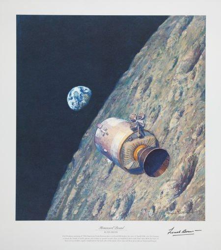"41069: Alan Bean Signed Artist Proof Apollo 8 Print ""Ho"