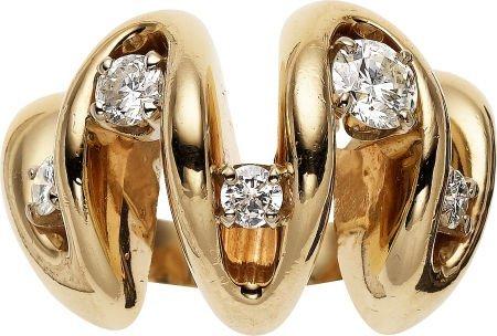 59004: Diamond, Gold Ring, circa 1970