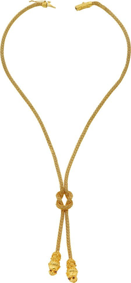 59009: Ruby, Gold Necklace, Lalaounis, Greek