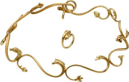 59016: Gold Jewelry Suite, Angela Cummings, circa 1997