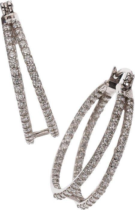 59247: Diamond, White Gold Earrings