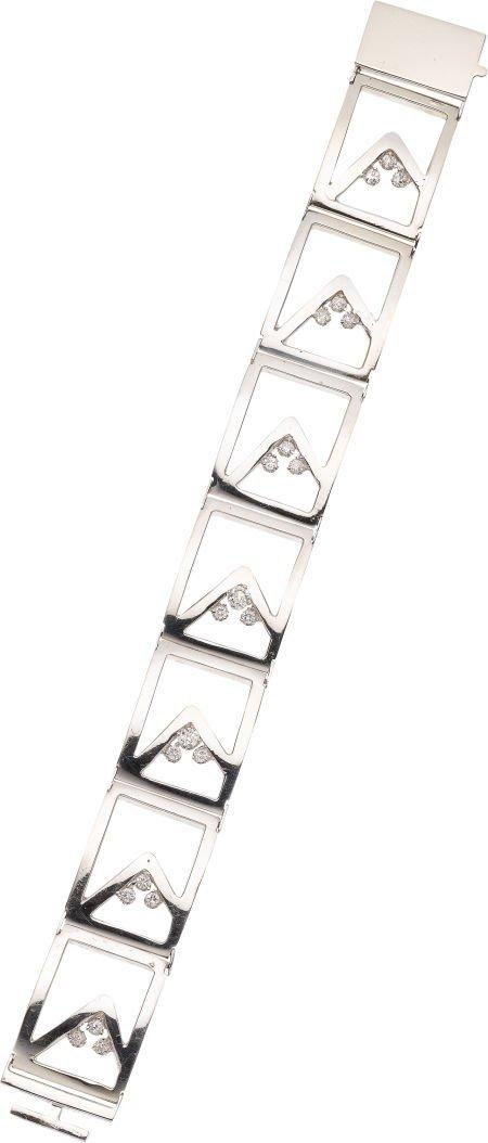 59250: Diamond, White Gold Bracelet