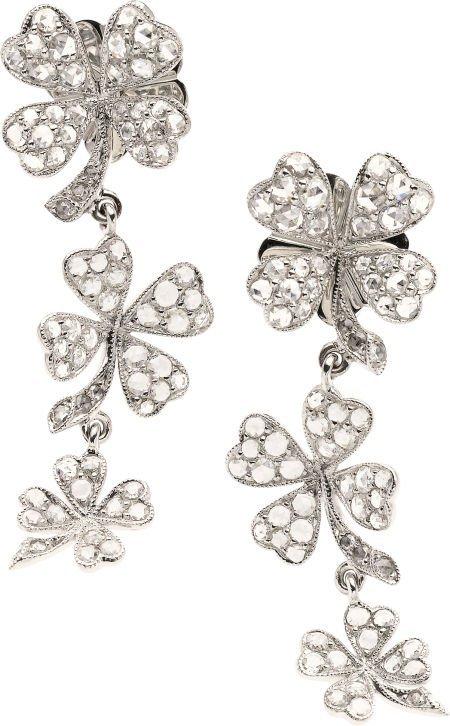 59258: Diamond, White Gold Earrings