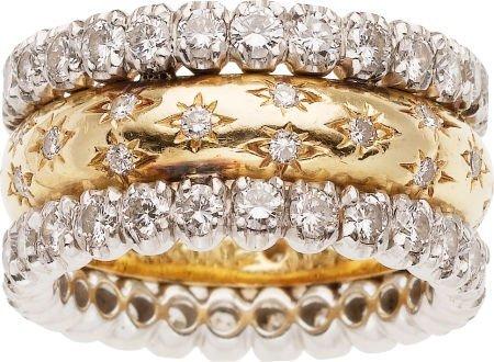 59263: Diamond, Platinum, Gold Ring