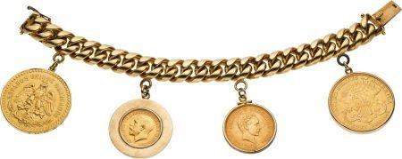 59440: Gold Coin, Gold Bracelet