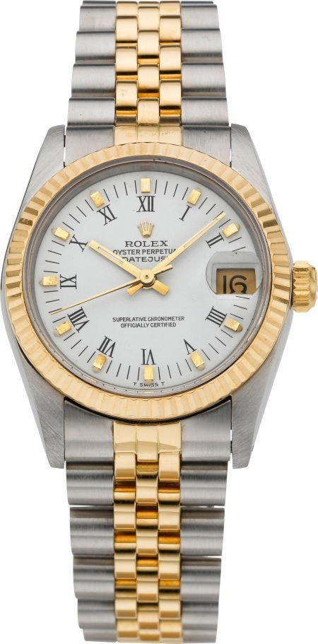 61009: Rolex Ref. 68273 Two Tone Mid-Size Datejust, cir