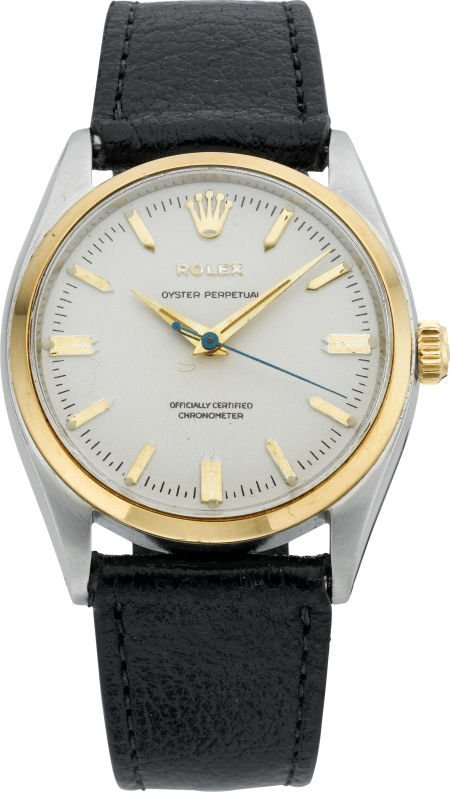 61010: Rolex Ref. 6564 Steel & Gold Oyster Perpetual, c