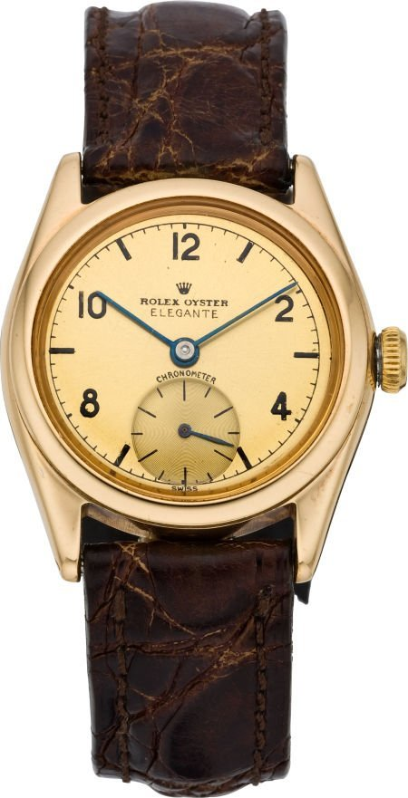"61017: Rolex Rare Ref. 4270 Early Gold Oyster ""Elegante"