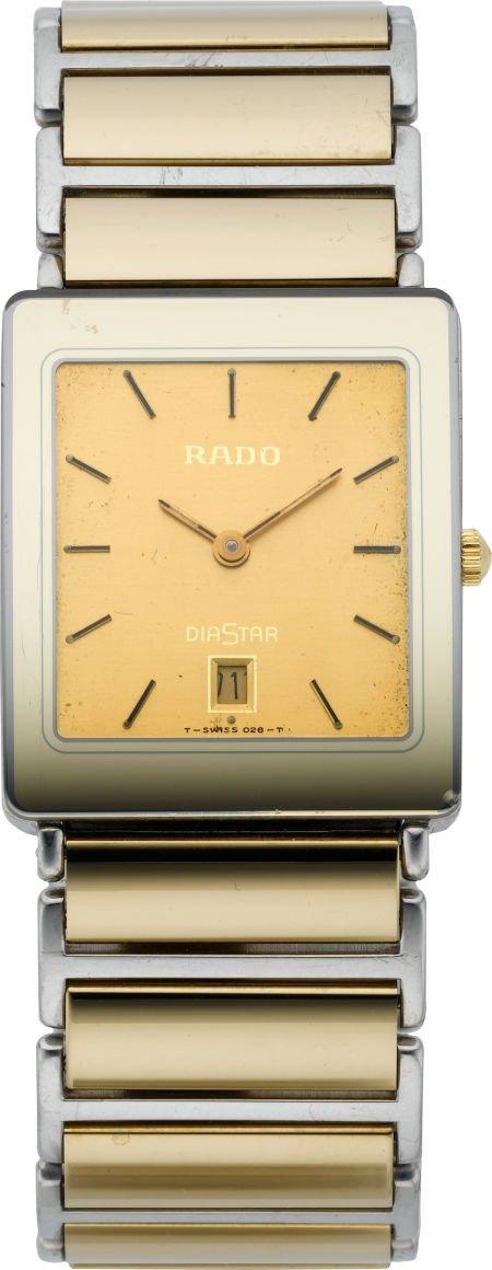 61211: Rado Gent's Two Tone Diastar Wristwatch, circa 1