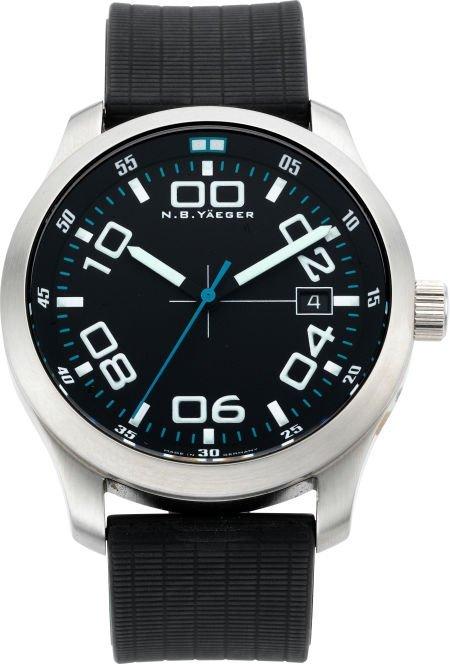 "61215: N. B. Yaeger ""Delta"" Pilots Wristwatch, modern"