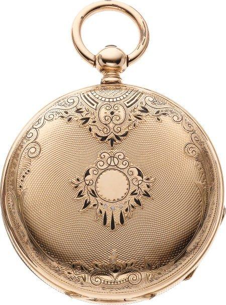 61216: Montandon Gold & Enamel Hunters Case, circa 1870