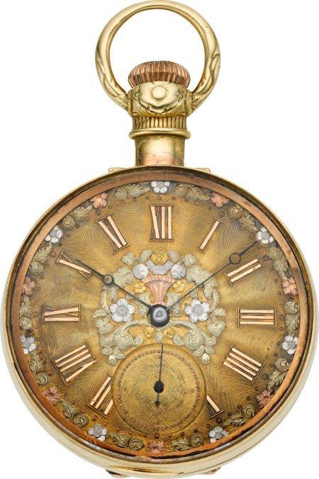 61220: Hamilton 974 With Gold Dial & Case, circa 1904