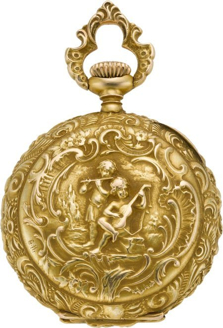 61222: Swiss Gold Miniature High Grade Pendant Watch, c
