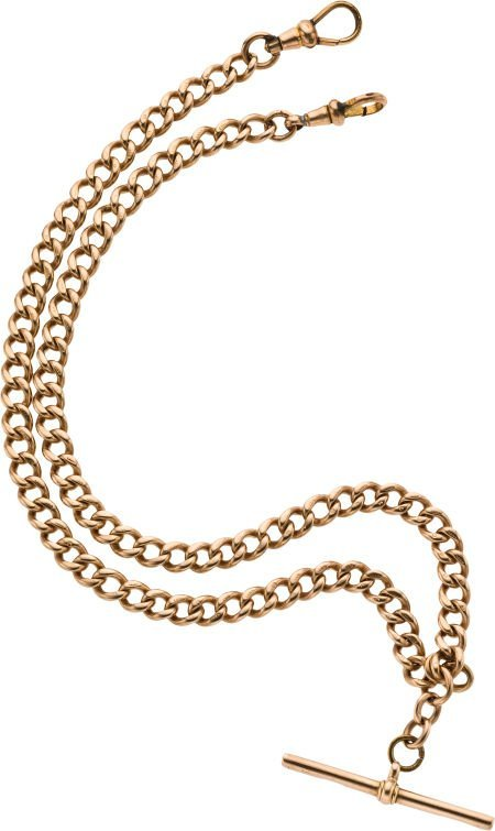 61227: Gold Double Albert Watch Chain, circa 1880