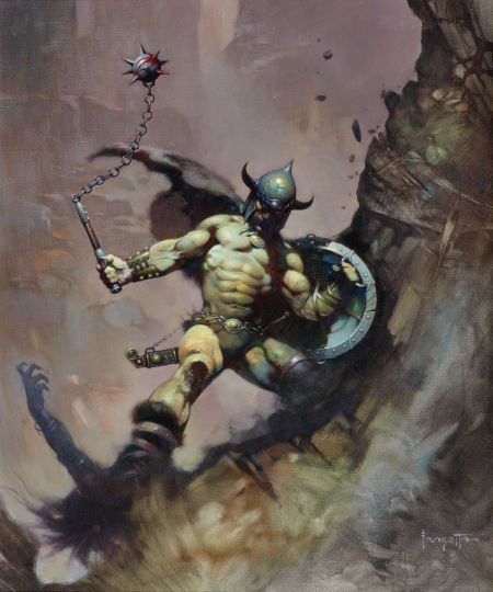 87143: FRANK FRAZETTA (American, b. 1928) Warrior with