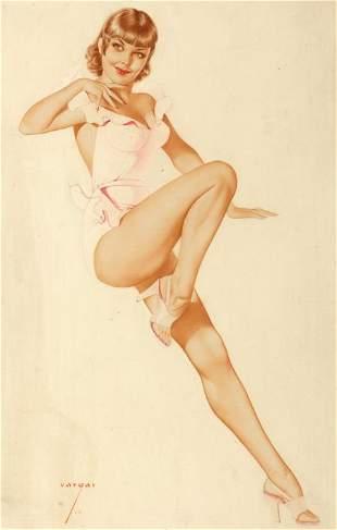 87560: ALBERTO VARGAS (American, 1896-1982) 10 of Heart