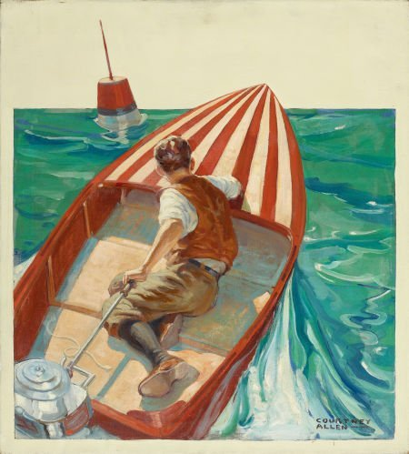 87703: COURTNEY ALLEN (American, 1896-1969) At Sea Oil