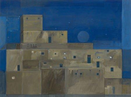 67005: GEORGE GRAMMER (American, b. 1928) The Pueblo No