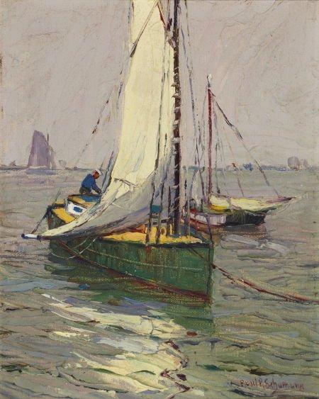 67011: PAUL RICHARD SCHUMANN (American, 1876-1946) Sail