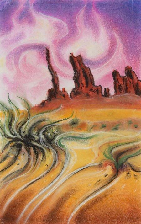 67014: DONRAY (American, b. 1945) Crooked Sky, 2009 Pas
