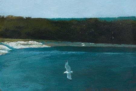 67015: DANIEL BLAGG (American, b. 1951) Bay View Oil on