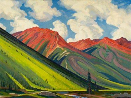 67022: OLIN TRAVIS (American, 1888-1975) Red Mountain,