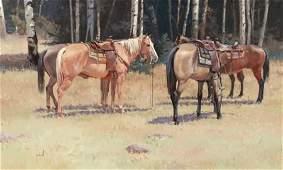 67169: ROBERT PUMMILL (American, b. 1936) Near the Aspe
