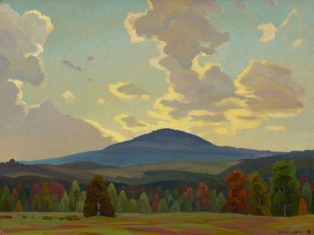 67023: OLIN TRAVIS (American, 1888-1975) Black Mountain