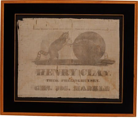 47006: Henry Clay: Delightful 1844 Campaign Banner.
