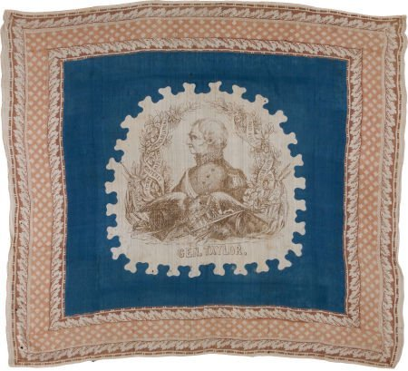 47019: Zachary Taylor: One of the Finest Known Silk Ban