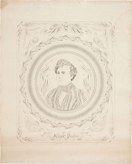 47022: Franklin Pierce: 1852 Campaign Poster.