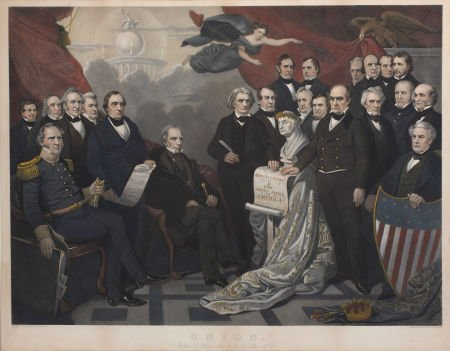 "47023: ""Union"": Magnificent Large, Hand-Colored 1852 Li"