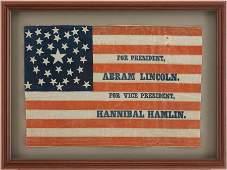 47027: Lincoln & Hamlin: Sought After 1860 Political Ca