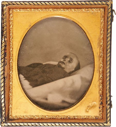 47551: Sixth Plate Ambrotype: Post Mortem Portrait of a