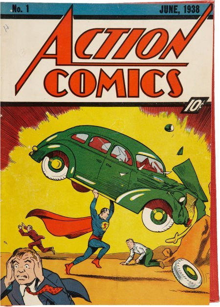 Action Comics #1-24 Bound Volumes (DC, 1938-40).