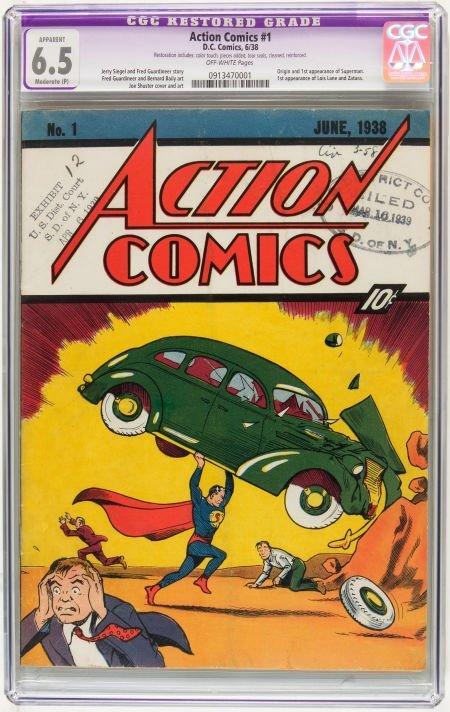 Action Comics #1 Court Copy (DC, 1938) CGC Apparent FN+