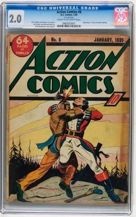 Action Comics #8 (DC, 1939) CGC GD 2.0 Cream to off-whi