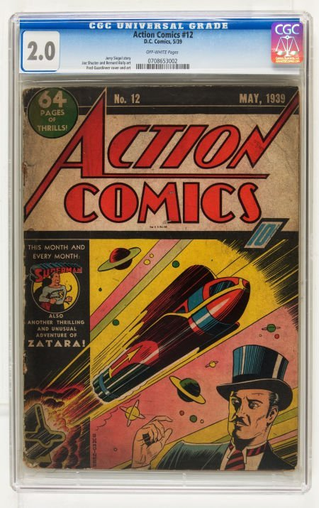 Action Comics #12 (DC, 1939) CGC GD 2.0 Off-white pages