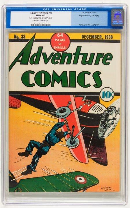 Adventure Comics #33 Mile High pedigree (DC, 1938) CGC
