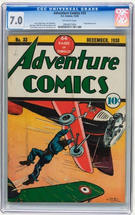 Adventure Comics #33 (DC, 1938) CGC FN/VF 7.0 Off-white