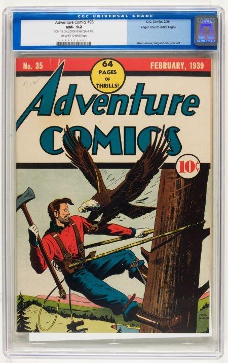 Adventure Comics #35 Mile High pedigree (DC, 1939) CGC