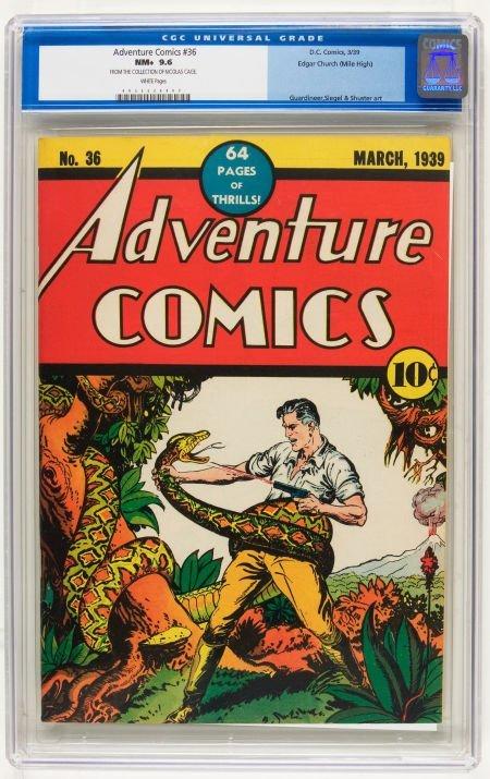 Adventure Comics #36 Mile High pedigree (DC, 1939) CGC